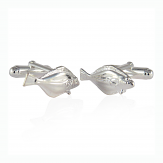 Halibut Cufflinks in Sterling Silver
