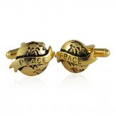 World Peace Cufflinks in Gold