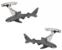 Hand-Painted Shark Cufflinks   Canada Cufflinks