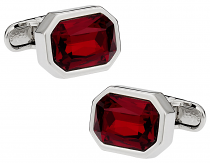 Michael Soho Design Shimmering Siam Red Cufflinks