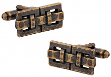 Bronze Oxidized Cufflinks