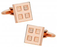 Rose Gold Four Square Cufflinks