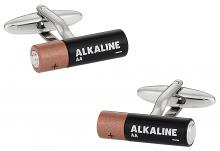 Double AA Battery Cufflinks
