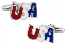 USA Cufflinks in Silver