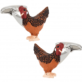 Rooster Cock Cufflinks Hand Painted   Canada Cufflinks