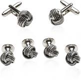 Silver Knot Tuxedo Stud Set