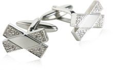 Crystal Bow Ties in Stainless Steel