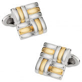 Unique Silver and Gold Cuff links