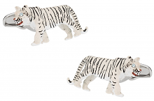 White Tiger Cufflinks Swarovski