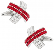 Swarovski Red X Cuff links