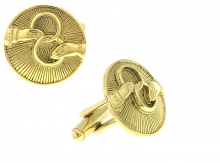 Vatican Gold-Tone Interlocking Rings Cufflinks