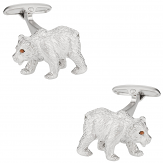 Bear Cufflinks Swarovski
