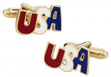 USA Cufflinks in Gold