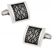 Michael Soho Design Urban Herringbone Cufflinks