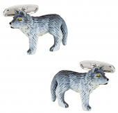 Howling Wolf Painted Cufflinks