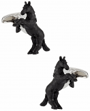 Bucking Bronco Cufflinks Hand Painted | Canada Cufflinks