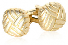 Matte Gold Swirled Cufflinks