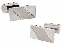 Polished and Matte Titanium Cufflinks