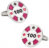 Red Poker Chip Cufflinks