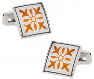 Explosion in Orange & Gray | Canada Cufflinks