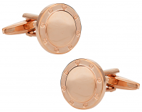 Rose Gold Cufflinks in Port Hole Design