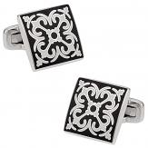 Elegant Black & White Cufflinks | Canada Cufflinks