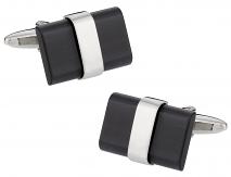 Black Banded Cufflinks