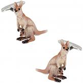 Kangaroo Cufflinks Hand Painted   Canada Cufflinks