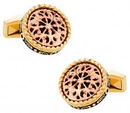 Filigree Gold Stainless Steel Cufflinks | Canada Cufflinks