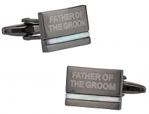 Father of the Groom Cufflinks with Mother of Pearl