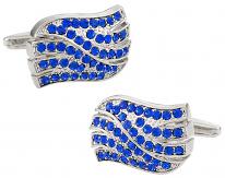 Beautiful Blue Crystal Waves