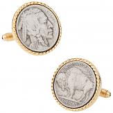 Vintage Buffalo Coin Cuff links