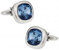 Denim Blue Crystal Cufflinks