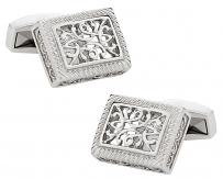 Ornate Stainless Steel Cufflinks | Canada Cufflinks