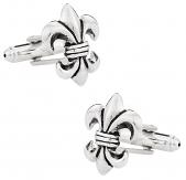 Antique Silver Fleur Di Lis Cufflinks