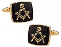 Black and Gold Masonic Cufflinks