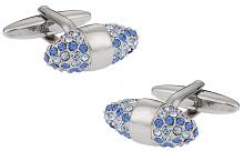 Swarovski Crystal Cone Cufflinks Sapphire