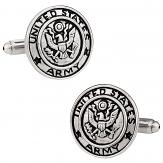 Silver Army Cufflinks
