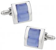 Stacked Blue Cufflinks