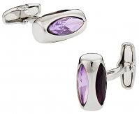 Michael Soho Design Purple Glass Vault Cufflinks
