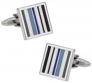 Tonal Blue Lined Cufflinks