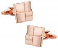 Four Piece Square Rose Gold Cufflinks