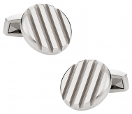 Deep Grooved Stainless Steel Cufflinks | Canada Cufflinks