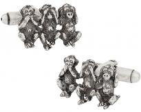 Three Monkeys Cufflinks