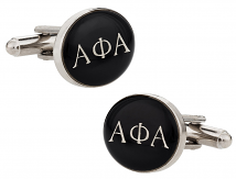 Alpha Phi Alpha Black Silver Cufflinks