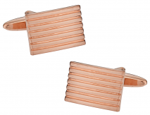 Rose Gold Lined Cufflinks