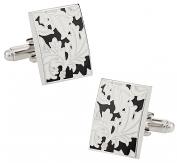 Black White Floral Cufflinks | Canada Cufflinks