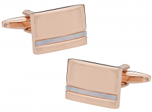 Rose Gold Cufflinks with Mother of Pearl