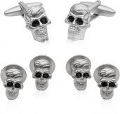 Skull Formal Set Cufflinks & Studs