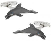Dolphin Cufflinks Hand Painted | Canada Cufflinks